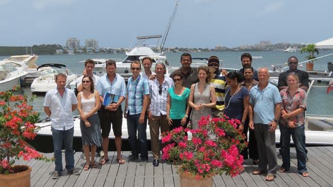 Les participants aux journées d'échange sur le tourisme durable