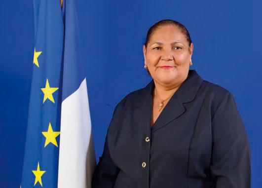 Aline Hanson, Présidente de la Collectivité de Saint-Martin