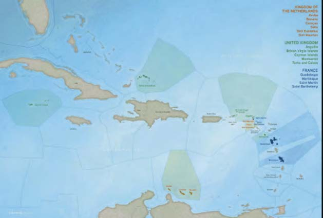 Les territoires européens de la Caraïbe   European territories in the Caribbean