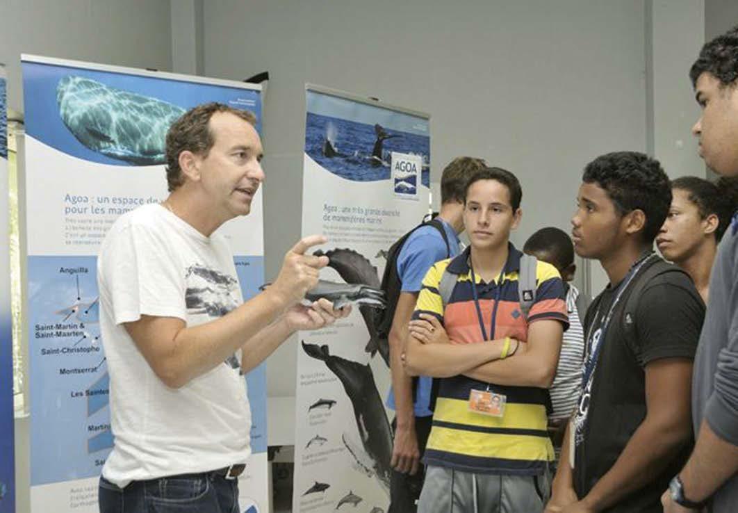 Les jeunes rencontrent Romain Renoux | The students meet with Romain Renoux