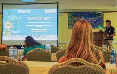 Julien Chalifour présentant le projet BioHab . Julien Chalifour presenting the BioHab project