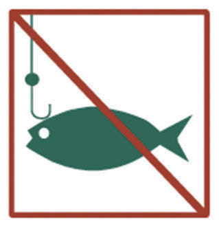 No fishing in the Reserve
