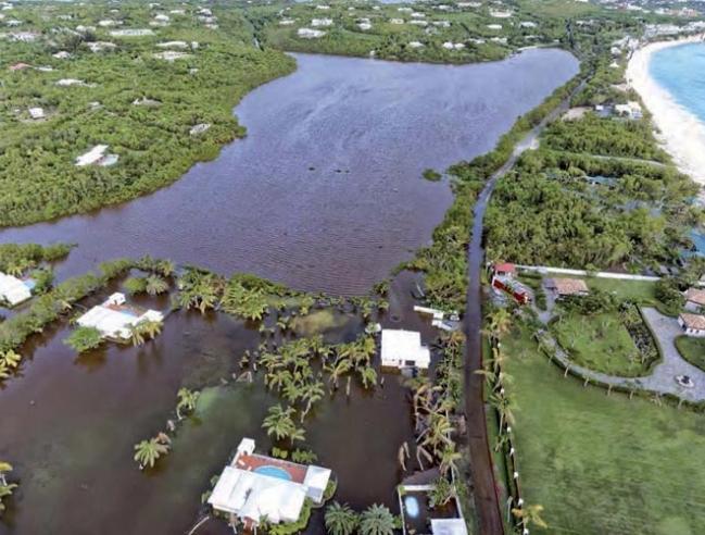 Les Terres Basses inondées après Gonzalo © Association des propriétaires des Terres Basses