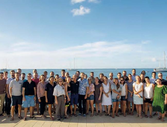 Les 50 participants au Forum des AMP étaient notamment venus du Parc National de Port-Cros, de l'AMP de la Côte agathoise, des villes de Marseille et de Saint-Cyr-sur-Mer, des sanctuaires des mammifères marins Pelagos et Agoa, du Parc national du Morbihan, de la Réserve naturelle des Sept-Îles, de l'AMP de Moorea, de la Réserve marine de La Réunion...