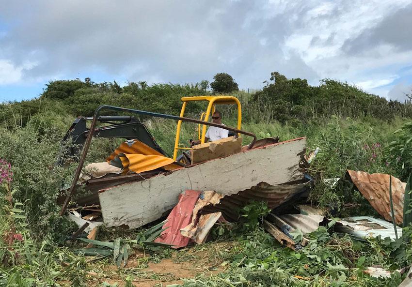 La parcelle nettoyée après avoir été squattée | The squatted land has been cleaned © Christophe Joe