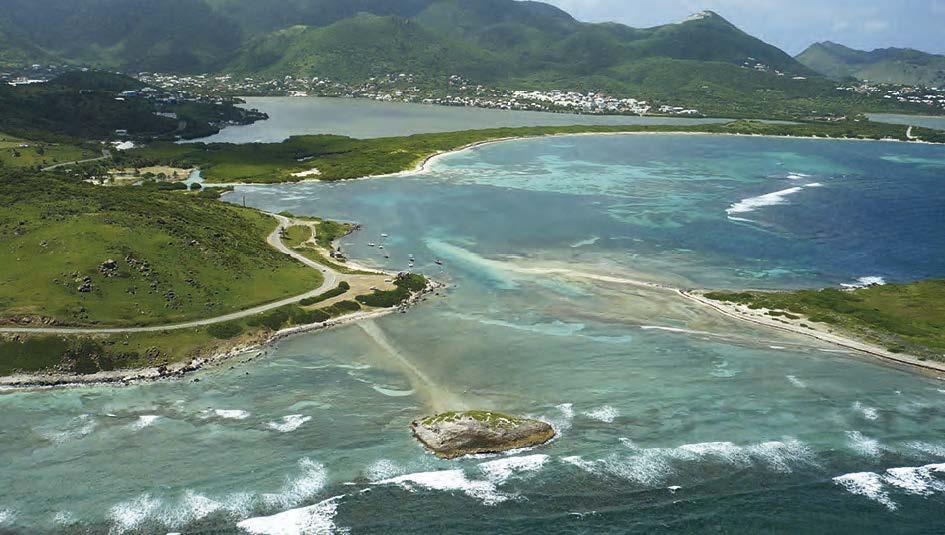 Les récifs protègent de la houle la plage et la mangrove   The reefs protect the beaches and mangroves from large swells