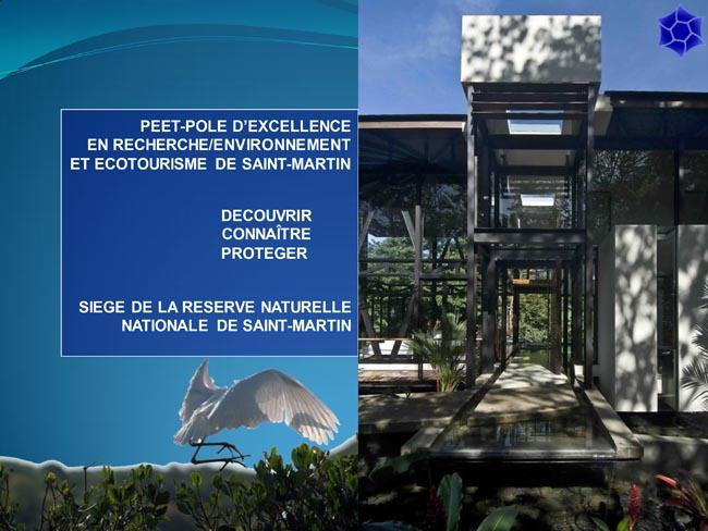 Projet pôle d'excellence en recherche, environnement et écotourisme de Saint-Martin