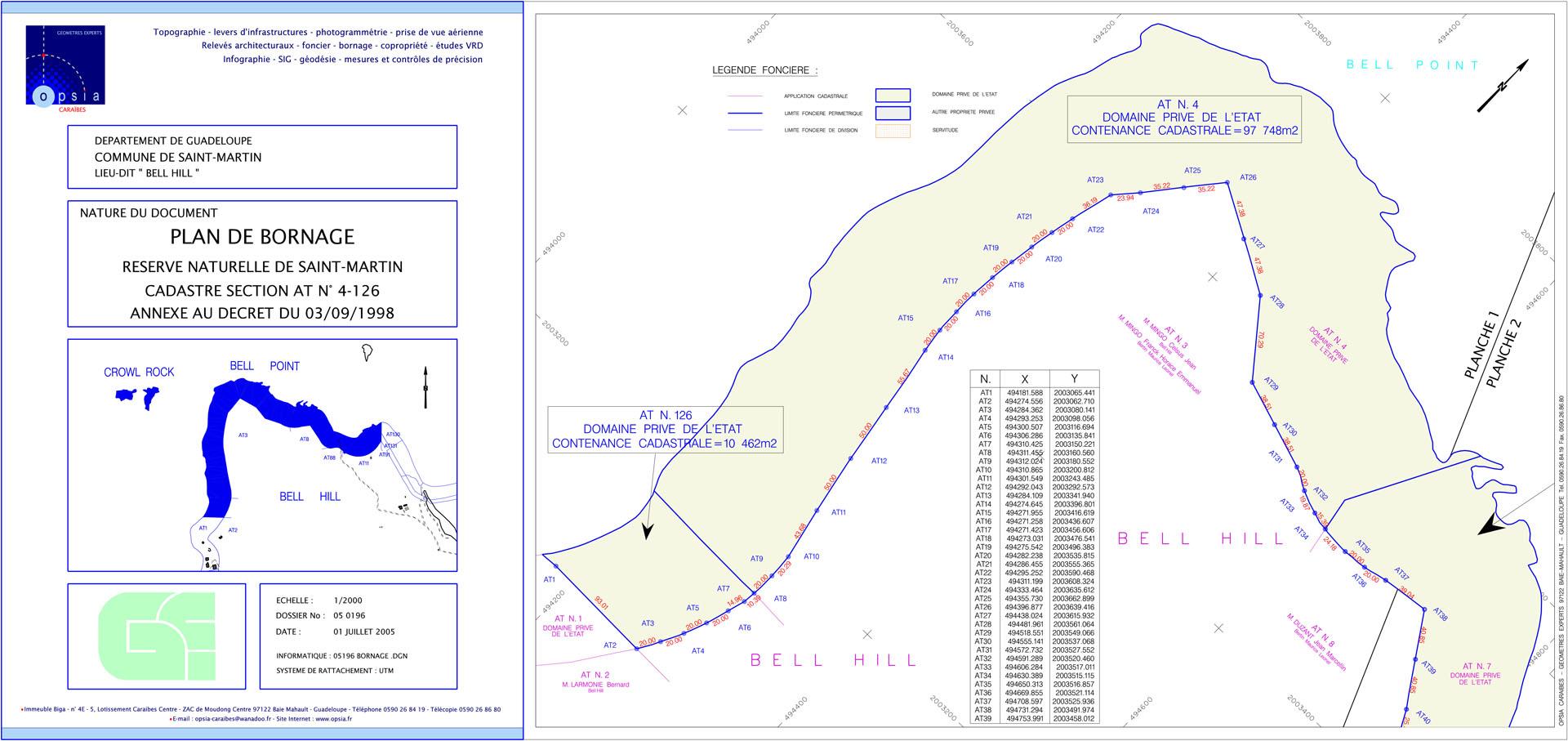 Plan de bornage - Bell Point