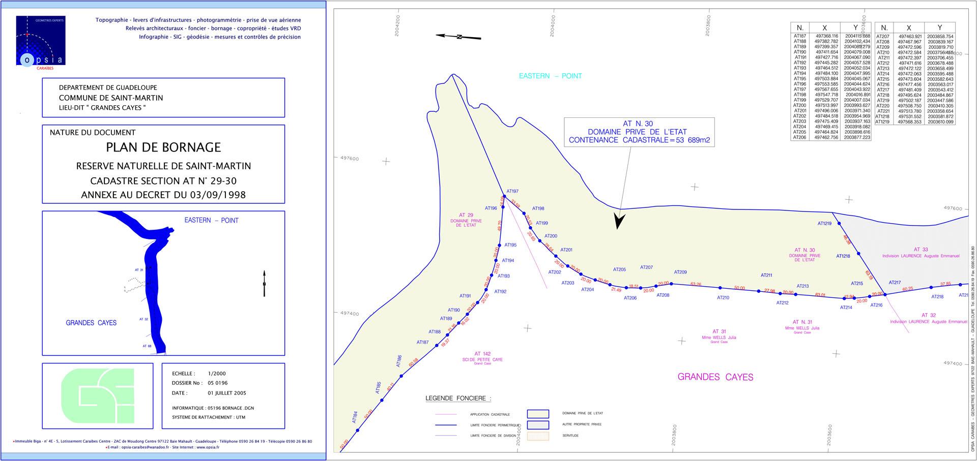 Plan de bornage - Grandes Cayes #2