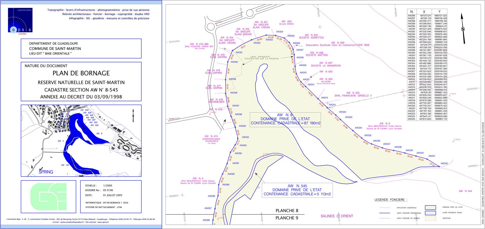 Plan de bornage - Salines d'Orient #1