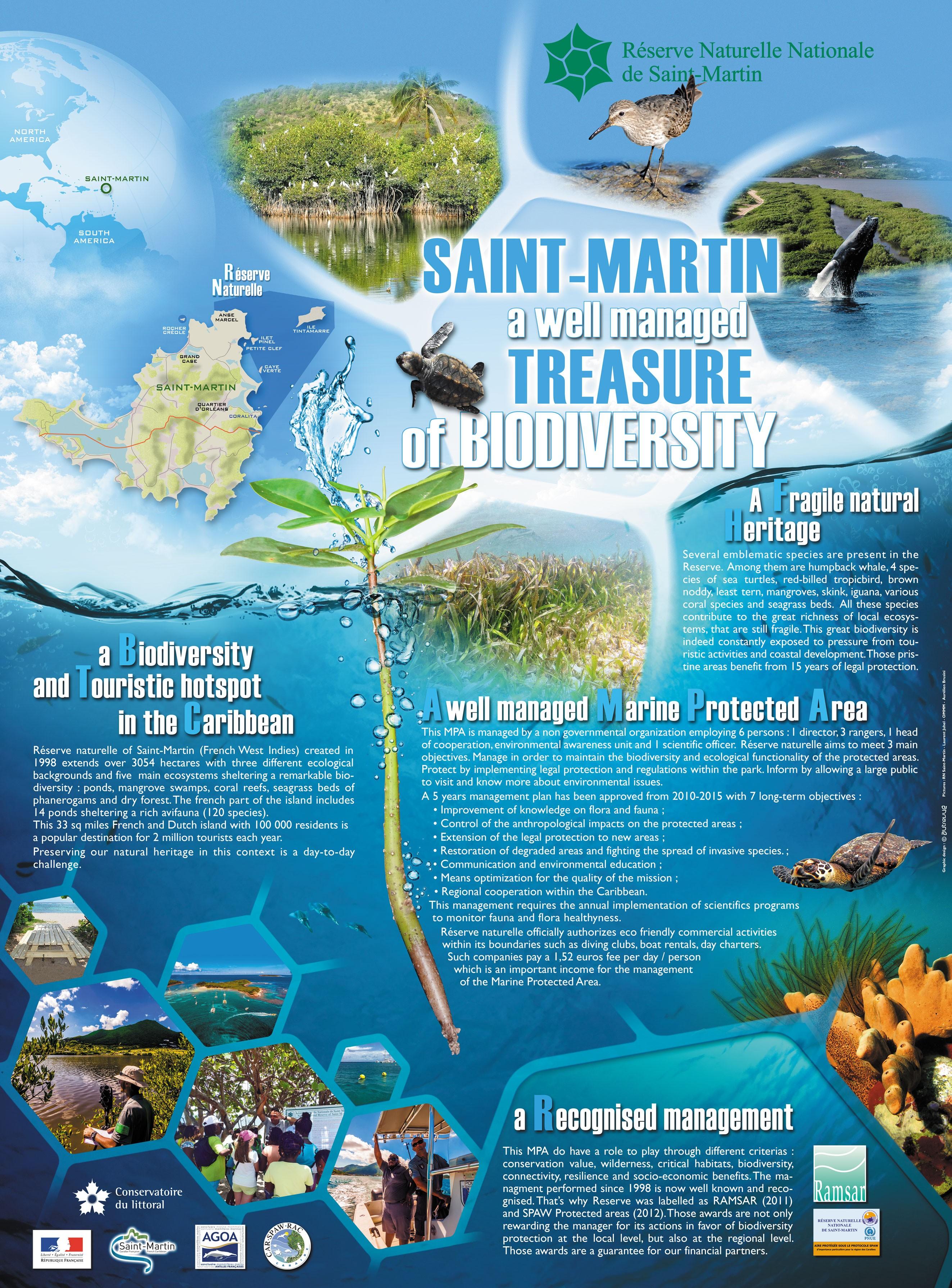 Poster sur la gestion de la  biodiversité à Saint-Martin