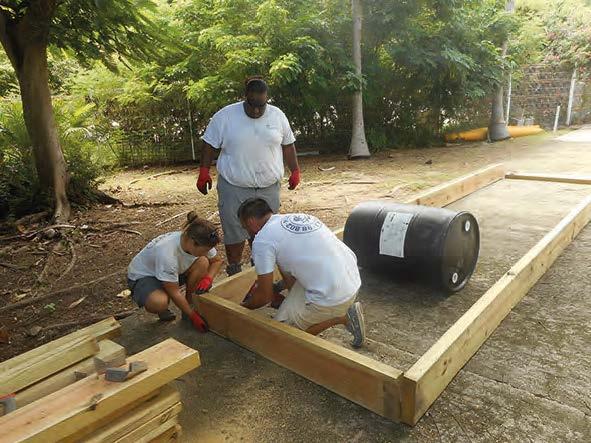 La construction du radeau The construction of the raft