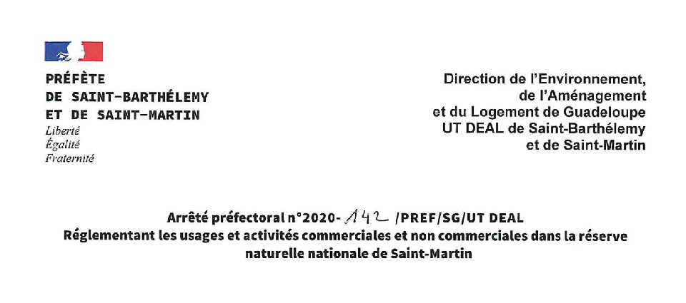 Un arrêté préfectoral réglemente les usages et les activités commerciales dans la RN A prefectural decree regulates the practices and commercial activities in the RN