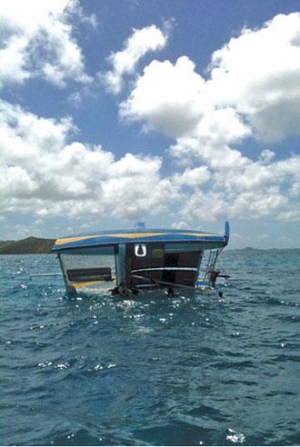 L'équipe de la Réserve était sur l'eau pour la Heineken Regatta et a aidé la SNSM à remettre d'aplomb ce catamaran retourné.
