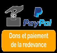 Dons et paiement de la redevance