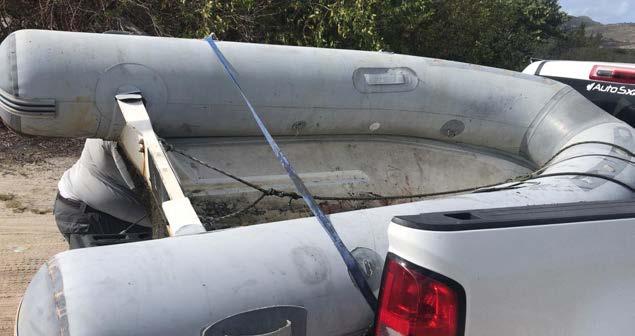 Le canot saisi par la réserve naturelle The boat seized by La Réserve Naturelle