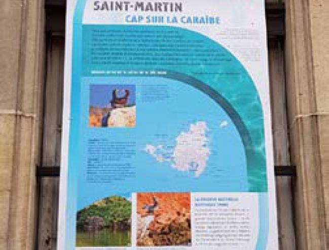 L'un des panneaux dédiés à Saint-Martin dans l'exposition - One of the panels dedicated to Saint Martin in the exhibit