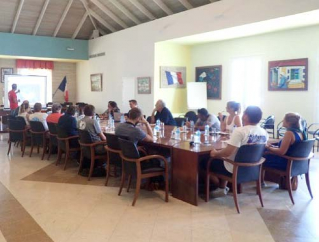 La première réunion du comité IFRECOR de Saint-Barth The first meeting of the Saint Barth IFRECOR committee © ATE