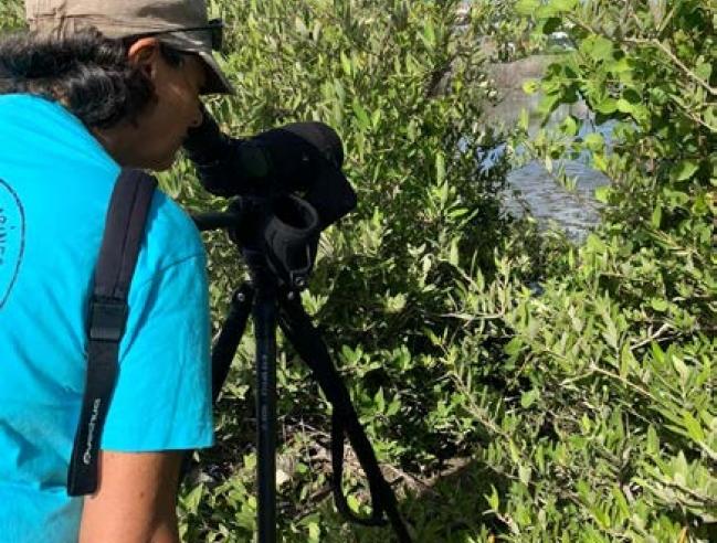 Chantal Imperiale sur le terrain Fieldwork for Chantal Imperiale