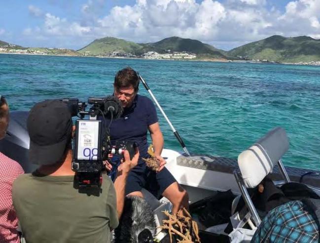 Nicolas Maslach filmé par l'équipe de Thalassa Nicolas Maslach filmed by the Thalassa team