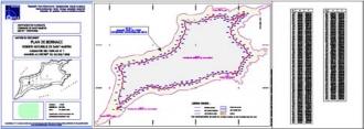Extraits des plans de bornage de la réserve naturelle