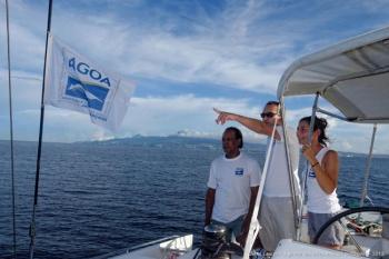 Romain Renoux participated in the scientific monitoring program in Martinique