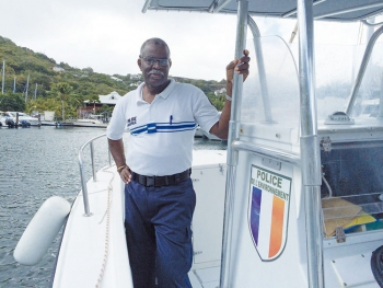 Territorial Chief of Police on the Reserve's boat