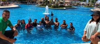 Séance d'entraînement d'immersion d'une balise