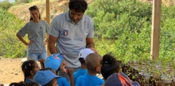 Sensibilisation sur le terrain avec Vincent Oliva Awareness in the field with Vincent Oliva Oliva