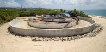 La station d'épuration de la pointe des Canonniers - The watert reatment plant at the Pointe des Canonniers