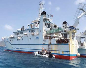 La campagne Pacotilles a travaillé depuis ce bateau | Pacotilles worked from this boat